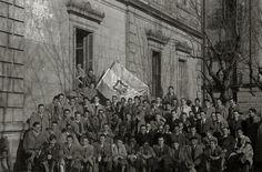 Bandera del Colegio San José. 1949. Kutxateka.