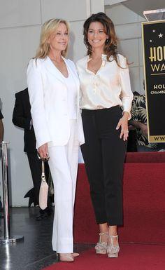 Shania Twain and Bo Derek. Elegant beautiful women. Love both of their outfits