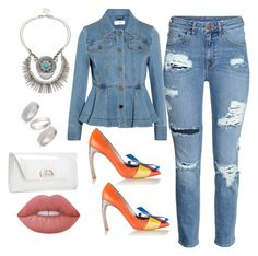 """""""Denim on Denim"""" by mychicstyle1 on Polyvore featuring Nicholas Kirkwood, Fendi, Sole Society, Christian Louboutin, Topshop, Lime Crime, chic, denim and outfits"""