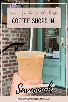 Savannah is known as a town for foodies in the South! While the town is known for the cuisine, there is also an excellent coffee scene! Click here for the best coffee shops in Savannah! #coffee #savannah #savannahgeorgia #coffeeshopbucketlist Cute Coffee Shop, Best Coffee Shop, Coffee Shops, Coffee Lovers, Work Cafe, Best Places To Vacation, Different Coffees, Espresso Drinks, Coffee Crafts