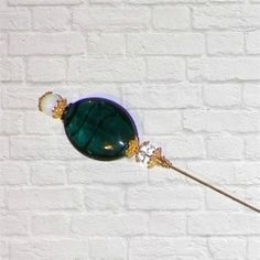 Victorian Antique Inspired Blue Hat Pin Edwardian Vintage Style Color Glass