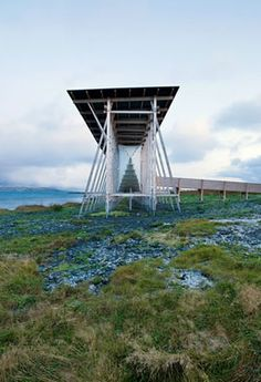 The Steilneset Memorial for the Victims of the Finnmark Witch Trials - Norway. Designed by Peter Zumthor.