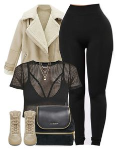 """1356 . It's too damn cold "" by cheerstostyle ❤ liked on Polyvore featuring WithChic, Ted Baker, Jules Smith and adidas"