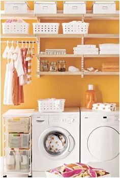 Love this color! I would repaint my laundry room to feel the cheeriness I felt when I first saw this!