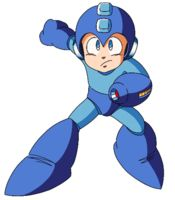 "Another classic platforming hero who needs no introduction - this is Mega Man!  But I'll introduce him anyway: this robot is always used by his creator Dr. Light to defeat (usually 8) ""Robot Masters"" from the evil Dr. Wily.  He fights...for everlasting peace."
