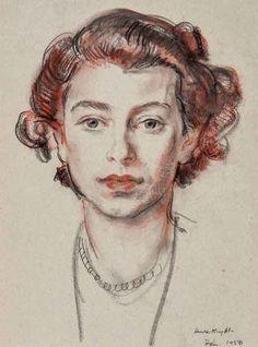 Elisabeth II - by Dame Laura Knight 1877 - 1970 -