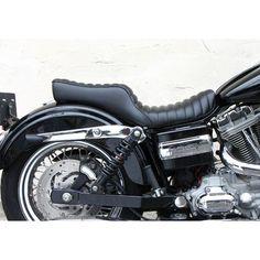 West-Eagle Viper Double Seat for Harley Dyna Motorcycle Seats, Scrambler Motorcycle, Bike Seat, Harley Dyna, Harley Davidson Dyna, Sportster Chopper, Brat Cafe, Cafe Racer Build, Custom Bikes