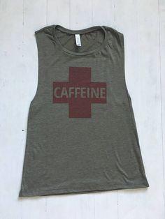 90745c69cd0fe2 Tank Tops For Women. Coffee Shirt. Caffeine Shirt. Graphic Tee. Mom Shirt.  But First Coffee. Caffeine Tank. Coffee Is my Life. Mother s Day
