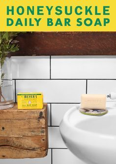 Keep your hands and body nice and clean with our new Honeysuckle Daily Bar Soap. This cheery floral has a sweet, soothing scent that's perfect for winding down after a long, hectic day. Each bar is made with 100% pure vegetable base and olive oil giving a rich and creamy lather to help smooth and soften skin. Find more garden inspired products just like this one over at MrsMeyers.com.