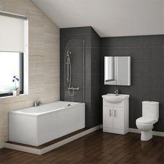 Alaska Vanity Bathroom Suite Inc. 1700mm Bath