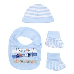 Adorable! Cheeky! Cutest! Baby boy's 3 piece set. (One size) £3.49