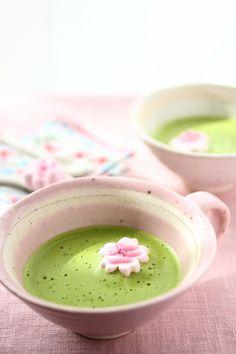 桜のマシュマロで春を楽しく | Cherry blossom marshmallows  & green tea & nice cup...