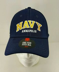 Navy Under Armour Annapolis Midshipman Baseball Anchor Embroidered Cap Hat Eagle #UnderArmour #Navy