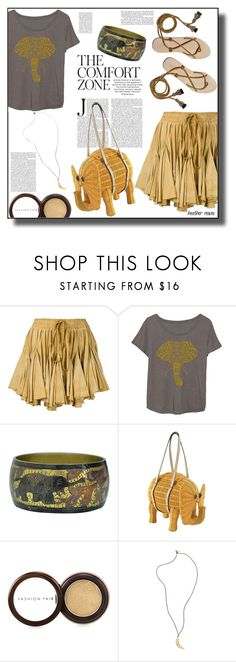 """""""Golden Summer"""" by heather-reaves ❤ liked on Polyvore featuring Vivienne Westwood Gold Label, LC Trendz, Loeffler Randall, Kate Spade, Fashion Fair and Pembe Club"""