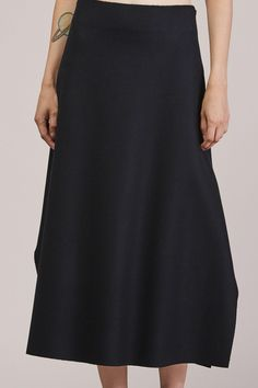 Seam Skirt, Navy by Studio Nicholson @ Kick Pleat - 7