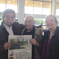Con Eugen Gomringer, creador de la Poesía Concreta, nacido en Cachuela Esperanza, Beni, Bolivia, octubre de 2015.