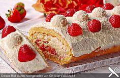 Erdbeer - Raffaello - Rolle (Rezept mit Bild) von caroline48 | Chefkoch.de