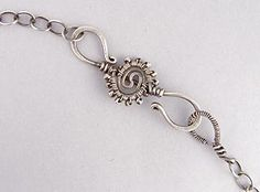 wire and bead handmade S hook clasp - very pretty!