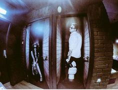Toilet doors at The Washhouse, Manchester