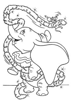 107 Best Disney Dumbo Coloring Pages images in 2019 | Coloring books ...