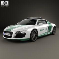 Audi R8 Police Dubai 2013 3D Model .max .c4d .obj .3ds .fbx .lwo .stl @3DExport.com by humster3D