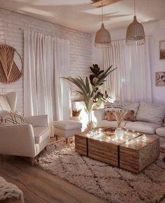 Living Room Decor Cozy, Boho Living Room, Diy Bedroom Decor, Living Room Tables, Cozy Living Room Warm, Coffee Table Decor Living Room, Cozy Apartment Decor, Country Style Living Room, Brown Room Decor