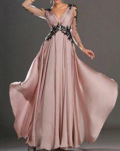 Lace Pink V-neck Long Sleeve Maxi Dress – shecici Long Sleeve Maxi, Maxi Dress With Sleeves, Dinner Gowns, Banquet Dresses, Wedding Party Dresses, Lace Wedding, Occasion Dresses, Dress Brands, Evening Dresses