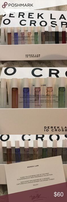 Derek Lam 10 Crosby Fragrance Collection Gift Set Derek Lam 10 Crosby Fragrance Collection Gift Set - BRAND NEW!  10 scents: Silent St. Looking Glass Hi-Fi Drunk on Youth Afloat Rain Day Something Wild Ellipsis Blackout 2AM Kiss 10 Crosby Derek Lam Accessories