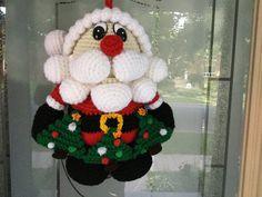 Santa Door Hanger crochet Pattern Tutorial  Amigurumi Santa