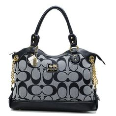 Coach Legacy Pinnacle Lowell In Signature Large Grey Satchels ADX Give You The Best feeling!