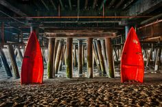 Under the Santa Monica Pier - http://douglaspaulwade.net/2014/12/01/under-the-santa-monica-pier-2/  #Boat #HDR #Red #SantaMonicaPier Under the Santa Monica Pier. The red boats are a wonderful addition. @f/11, ISO 200, using a 18.0-200.0 mm f/3.5-5.6, shot at 18 mm   © 2012 – Douglas Paul Wade
