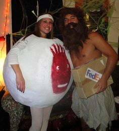 Castaway couples costume - awesome!