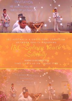 IRC-Australia DBN-TV – Sunday 23 December 2018 – IRC-Sydney Youth 2 Hours Xmas Program Sydney, 23 December, Tv, Youth, Xmas, Christian, Invitations, Facebook, Movie Posters