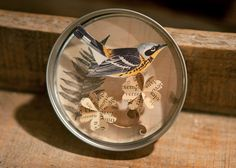 Paper Art Mini Quilled Flowers with Bird