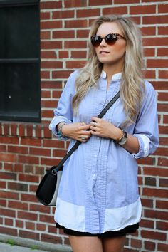 preppy t-shirt dress- www.andrea-clare.blogspot.com