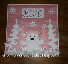Xmas Cards, Holiday Cards, Marianne Design Cards, Diy And Crafts, Paper Crafts, Craft Punches, Punch Art, Christmas Tag, Panda Bear