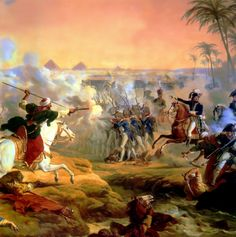 The Battle of the Pyramids, 21 July 1798, by Horace Vernet.