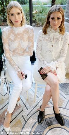 Olivia Palermo, 31, and Celine Dion, 49, both pulled off stylish sartorial displays as they stepped out in Paris for the Giambattista Valli Paris Haute Couture Fashion Week show on Monday.