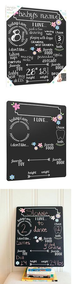 Keepsakes and Baby Announcements 117388: Tiny Ideas Baby S Monthly Chalkboard, Girl, Black -> BUY IT NOW ONLY: $31.99 on eBay!
