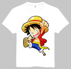 Mens Japan Hot Anime One Piece Luffy Gear 4 Printing T-shirt Luffy Gear 4 Top Tees Shirt