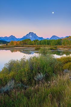 Sunrise Is Coming .. Oxbow Bend in The Grand Teton National Park, Wyoming