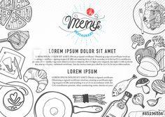 vector food design template. menu restaurant brochure.