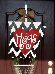 Go Hogs!!!!! Super cute door hanger!!!