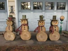 Log snowmen Plus
