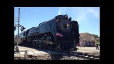 Locomotive 844 visits Columbus Nebraska