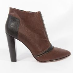 """Rebecca Minkoff Colorblock Ankle Boots Color is wine and black calfskin leather. Zipper details. 4.5"""" heel height. Brand new without tag. Comes with dustbag. Rebecca Minkoff Shoes Ankle Boots & Booties"""