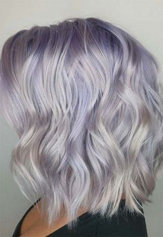 Mother-of-Pearl Hair Trend: 53 Iridescent Pearl Hair Colors to Dye for - hair - Hair Color Hair Color Balayage, Ombre Hair, Blonde Color, Haircolor, Silver Blonde Hair, Silver Hair Colors, Gray Hair, Silver Purple Hair, Blonde Hair No Roots