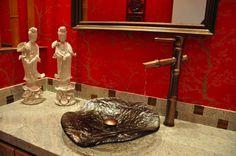 Asian Inspired Powder Bath  www.elainewilliamsondesigns.com