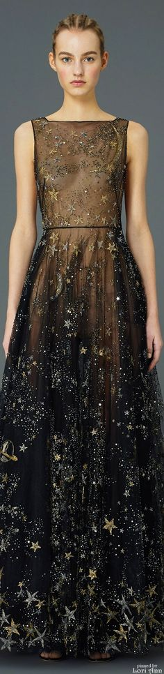 Valentino Pre-Fall 2015- Beautiful dress. Reminds me of the Queen of the Night in Mozart's Magic Flute.