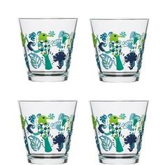 pack glass cups Perfect gift item Attractive bird design on each glass Teal Kitchen, Kitchen Decor, Pint Glass, Clear Glass, Blue Bird, Blue Green, Kitchen Trends, Bird Design, Dot And Bo